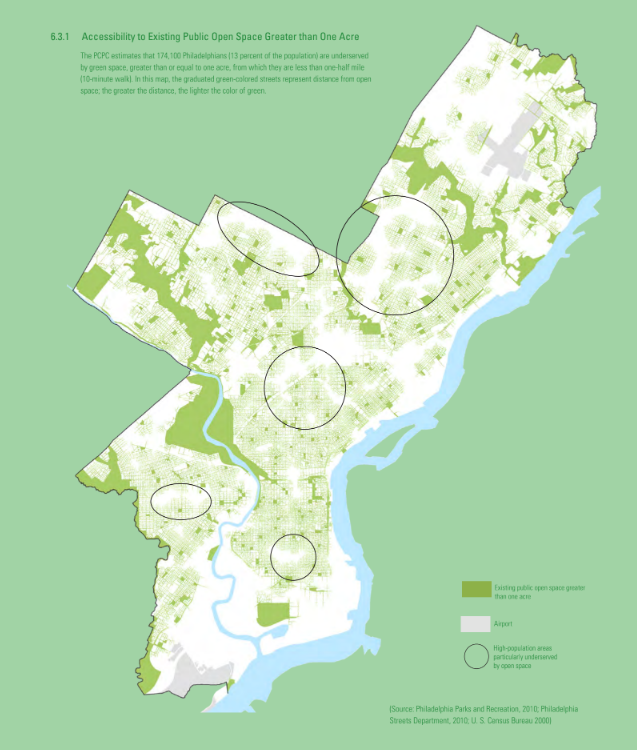 Accessibility to Existing Public Open Space Greater than One Acre
