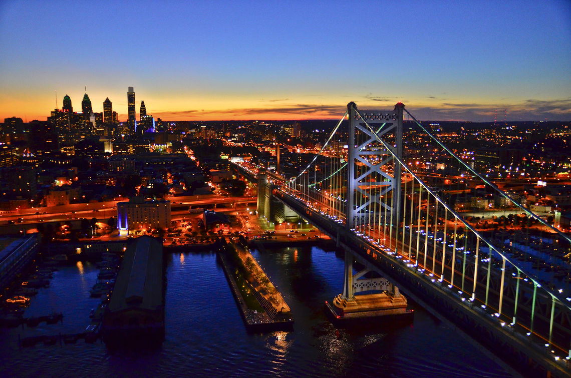 Philadelphia Sunset Skyline